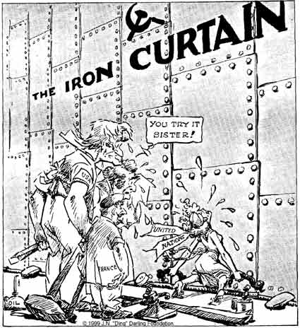 What Are They Trying To Do In This Image And According You Know About Time Period The Iron Curtain